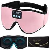 MUSICOZY Sleep Headphones Bluetooth Wireless Sleeping Eye Mask, Office Travel Unisex Gifts Men Women Who Have Everything Top
