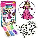 Imagimake Fleximos Princess DIY Window Art – Dotz Air Dry Clay Art Playset - for Girls 3 Years+