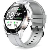 Smart Watch, 2020 Version, Bluetooth 5.0, Activity Tracker, Pedometer, Round Shape, Full Touch…