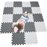 MQIAOHAM Baby Puzzle mat Baby playmat Plastic mats for Floor Shape Square Play Gym Toys Jigsaw Board Foam Tiles Cushions Soft