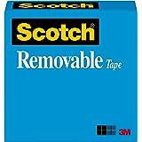 Scotch Restickable Removable Tape, 19mm x 32.9m, Clear, (811)