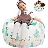 Great Eagle Stuffed Animal Storage Bean Bag Chair Cover|38x38 Inches Extra Large Cotton Canvas | Bean Bag Chair for Kids, Tod