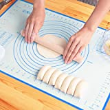 "Large Silicone Pastry Mat Non Stick Rolling Dough with Measurements-Non Slip,Reusable Silicone Baking Mat for Housewife(16"" x"