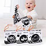 TUMAMA Baby Toys 0 3 6 to 12 Months,Soft Cloth Books for Babies, My First Soft Books Early Education Toys with Fruit, Numbers