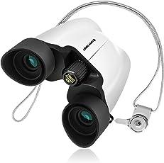 SuperSunny 双眼鏡 10倍 コンサート用 手ブレしにくい改良版 超軽量でおすすめ ホワイト