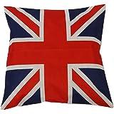 "Huacel Throw Pillow Case, Cotton Linen Square Decorative Throw Pillow Case Cushion Cover 18"" x 18"" British Vintage Style Unio"