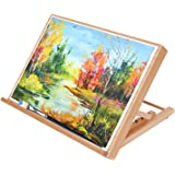 TOKILE Art Wood Desk Table Easel, Elegant and Practical Easel, Adjustable Angle, Sturdy and Light Weigh, Suitable for Adults,