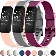 Tobfit Sport Bands Compatible with Fitbit Inspire HR/Inspire/Ace 2 Fitness Tracker Accessories Strap for Women Men, Small Lar