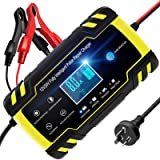 TOPERSUN Car Battery Charger 8A 12V / 24V Smart Automotive Battery Charger Maintainer with LCD Screen Multi Protections for C