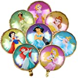 Disney Princess Balloons Bouquet ,Disney Princess Party Supplies Balloon Bouquet Decorations with 8 Princesses