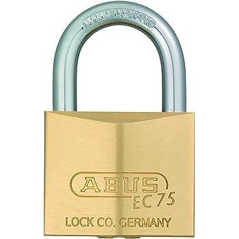 ABUS 真鍮南京錠 EC75/30 KD ディンプルシリンダー バラ番