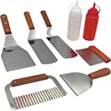 ABSOLUTE Griddle Accessories Kit, Heavy Duty Stainless Steel Grill Spatula Set for Grill Griddle Hibachi Barbecue BBQ Flat To
