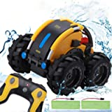Apsung Remote Control Car, 1/24 Scale Amphibious Vehicle for Kids 2.4GHz Off Road RC Truck with 4WD Electric Toy Car, 360° Sp