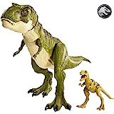 Jurassic World Tyrannosaurus Rex and Baby Tyrannosaurus Rex Jointed Dinosaur Figurines Toy Set for Children GCT98