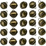 Maydahui 50PCS Vintage Jingle Bell 1 Inches Antique Decorative Tone Copper Bell for Pet Dog Cat Pendants Christmas Tree Craft