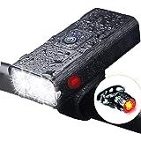 自転車ライト – YCADEN 1000ルーメン「6in1機能搭載」 USB充電式 大容量5200mAh 自転車ヘッドライト付き 高輝度