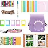 40PCS Camera Accessories Kit with PU Case Photo Frame Album Stickers Strap Compatible with Fujifilm Instax Mini 11 Instant Ca