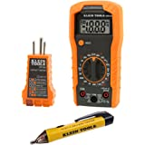 Klein Tools 69149 Multimeter Test Kit, Klein Multimeter, Noncontact Voltage Tester and Outlet Tester, Leads and Batteries Inc