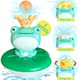 Baby Bath Toys,bath bombs for kids,Cute Frog Electric Water Spray Toys with 5 Different Spray Accessories, Sprinkler Bathtub