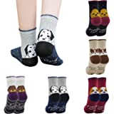 Girls 5 Pack of Fashion Cartoon Dog Animals Cute Socks