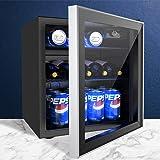Advwin Bar Fridge Glass Door Mini Countertop Beverages Refrigerator Bottle Cooler 46L