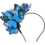 Coucoland Butterfly Fascinator Hat Headband Kentucky Derby Fascinators Boho Style Headband Butterfly Headpiece