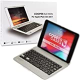 Cooper Kai SKEL P1 [Bluetooth Wireless Keyboard] Case for iPad Mini 1 2 3 | Portable Laptop MacBook Clamshell Case, 13 Shortc
