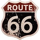 HANTAJANSS Route 66 Signs Vintage Road Signs for Home Decoration 11.5x12 (Route 66)