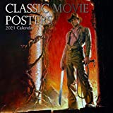 2021 Wall Calendar - Classic Movie Posters, 12 x 12 Inch Monthly View, 16-Month, Famous Artists and Artworks Theme, Includes