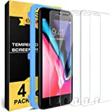[4 Pack] for iPhone 8 / iPhone 7 Screen Protector, Nearpow [Tempered Glass] Screen Protector with [9H Hardness] [Crystal Clea