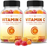 (2-Pack) Vitamin C Gummies for Kids & Adults | 5-in-1 Immune System Support with Elderberry, Rosehips, Citrus Bioflavonoids &