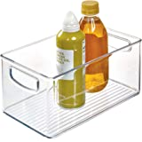 "InterDesign Home Kitchen Organizer Bin for Pantry, Refrigerator, Freezer & Storage Cabinet-10"" x 6"" x 5"", Clear"