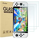[3 Pack] ProCase Screen Protector Compatible with Nintendo Switch OLED 2021, Tempered Glass Screen Film Guard Rounded Edge Re