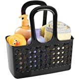 InterDesign Orbz Bathroom Shower Tote for Shampoo, Cosmetics, Beauty Products - Small, Black