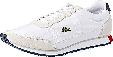 Lacoste Men's Partner 119 1 Fashion Shoes, WHT/NVY/RED