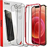 TOZO Compatible for iPhone 12 Pro Max Screen Protector 3 Pack Premium Tempered Glass 0.26mm 9H Hardness 2.5D Film Super Easy
