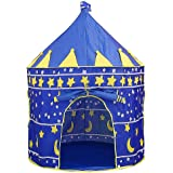 Aukor Kids Play Tent Toddler Playhouse Prince Princess Castle Foldable Pop Up Kids Tent with Carrying Bag for Gifts Girls Boy