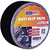 【Amazon 限定ブランド】ADHES すべり止めテープ 滑り止め 転倒防止 段階 屋外 屋外 脚立用 防水 5cm幅 X 6m長さ ブラック