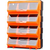 HORUSDY 12 Drawers Storage Cabinet Tool Box Bin Chest Case Plastic Organiser Toolbox