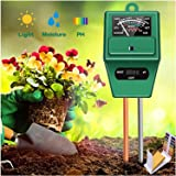 Reayouth 3 in 1 Soil Tester, Plant Moisture/Light/pH Acidity Meter Tester Gardening Tools for Home, Farm, Lawn, Indoor&Outdoo