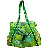Leberna Large Mesh Beach Bag Foldable Lightweight Heavy Duty Toys Tote Bag