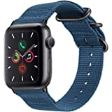 For Apple Watch Band 42mm Fintie Premium Woven Nylon Bands Adjustable Replacement Sport Strap with Metal Buckle for iWatch 42