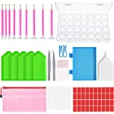 Outuxed 127Pcs Diamond Painting Tools 5D DIY Cross Stitch Tool Set Embroidery Sewing Accessories with Storage Box and Sticker