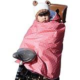 [stallion] 自転車専用防寒ポンチョ 暖かい ポンチョ 防寒 子供 自転車専用 防寒ポンチョ 撥水 ボア キッズ…