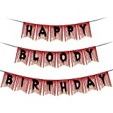 Happy Bloody Birthday Halloween Banner Scary Bloody Banner For Halloween Zombie Vampire Party Decorations Supplies