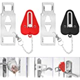 YGOCH Portable Door Lock 2 Pack Home Security, Upgraded Strong Multi Size Travel Lock for Additional Safety and Privacy, Soli