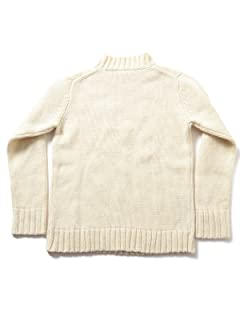 3 Gauge Wool Mock Neck Sweater 51-15-0281-202: Off White