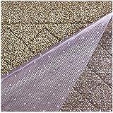 Resilia Premium Heavy Duty Floor Runner/Protector for Carpet Floors – Non-Skid, Clear, Plastic Vinyl, Clear Prism, 27 Inches