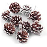 54 PCS Wooden Xmas Christmas Tree Pine Cone Hanging Ornament Holiday Party Home Decor Decoration Supplies