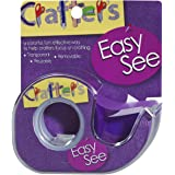 Lee Products Crafter's Easy See Removable Craft Tape, 0.5-Inch x 720-Inch, Purple